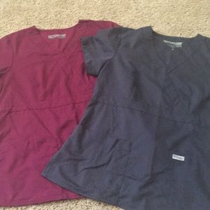 Grey's Anatomy 2 size medium scrub tops